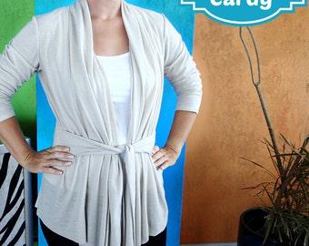 Cuddle Me Cardy  - PDF Sewing  pattern