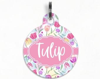 "Pet ID Tag | ""Tulip"" - Spring Tulip Garden"