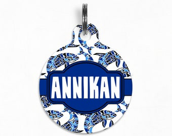 "Pet ID Tag | ""Annikan"" - Tribal Whales Dog Tag"