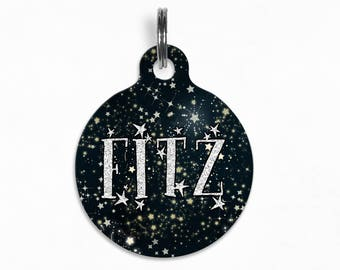 "Pet ID Tag | ""Fitz"" - Stargazers Starry Night"