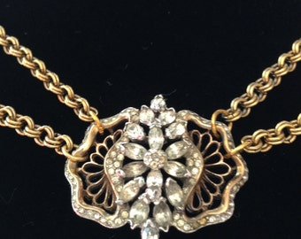 One-of-a-Kind Vintage Assemblage Necklace with Argentinian Brooch