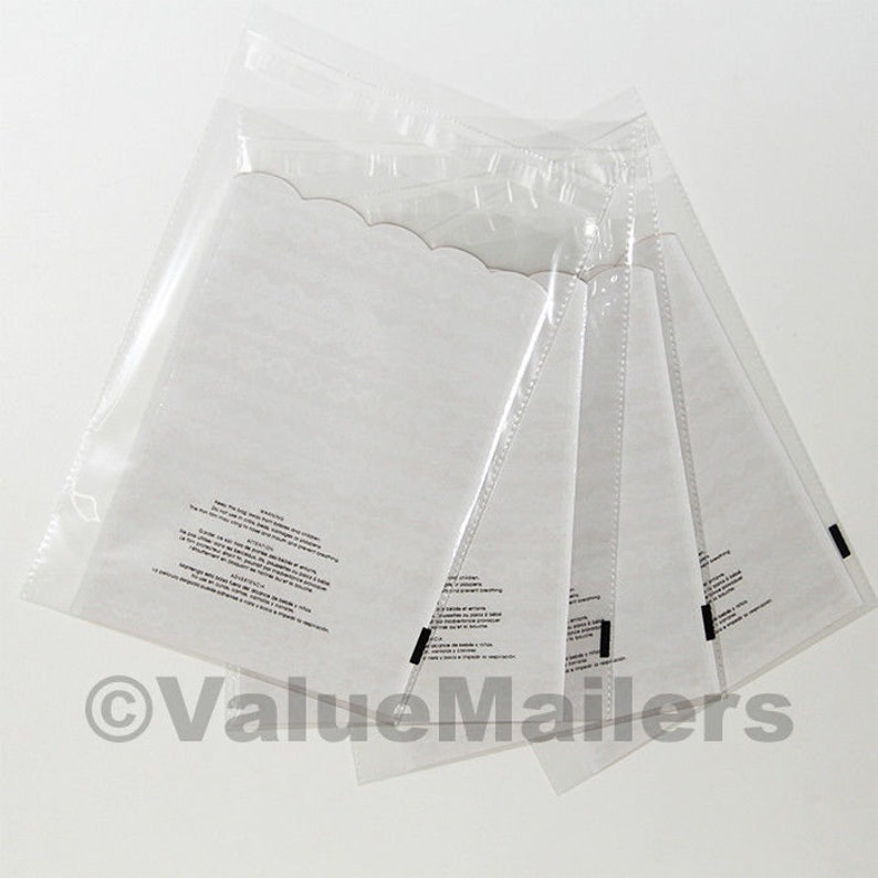 2000 19x24 1.5 Mil Bags Resealable Clear Suffocation Warning Poly OPP Cello Bag