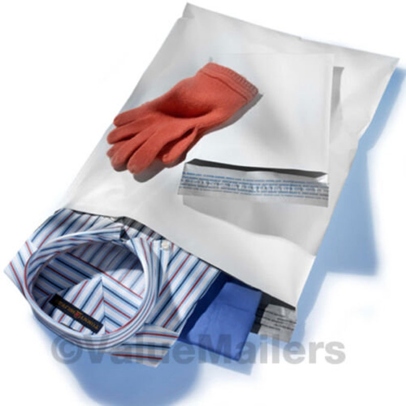 1000-10x13 wcHITE POLY MAILERS ENvELOPES BAGS 10 x 13