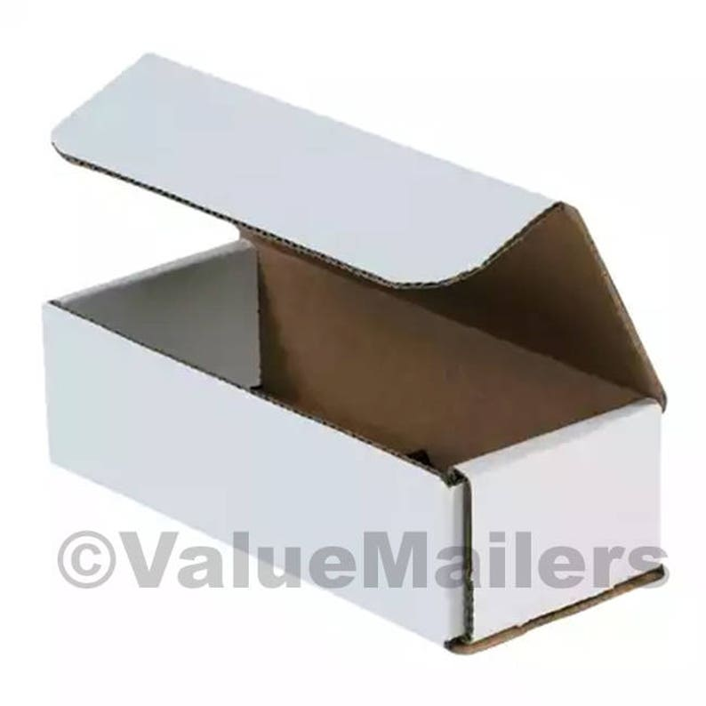 100-6 x 6 x 3 White Corrugated Shipping Mailer Packing Box Boxes 6x6x3 Business & Industrial