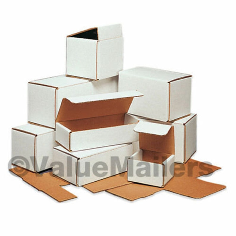 100-9 x 3 x 3 White Corrugated Shipping Mailer Packing Box Boxes