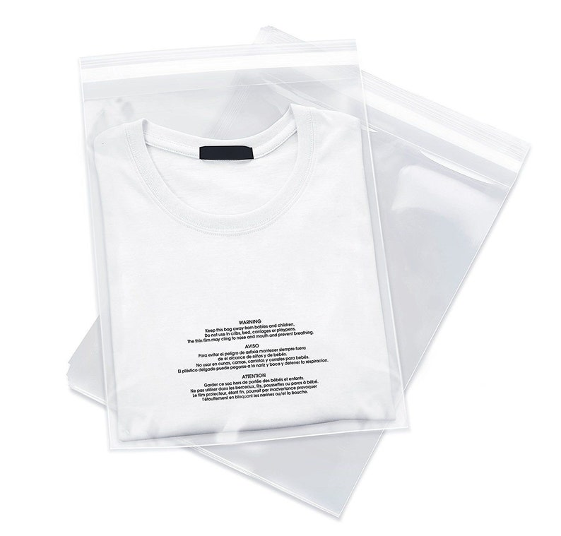 1000 6x9 Poly Bags Resealable Suffocation Warning Clear Merchandise 1.5 mil