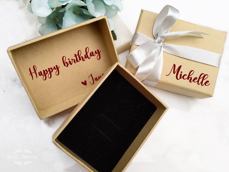 8.5cm Gift box with name Thick Kraft box with lid Kraft box image 0