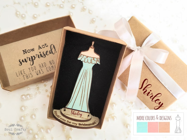 Personalized Will You Be My Bridesmaid proposal gift idea with image 0