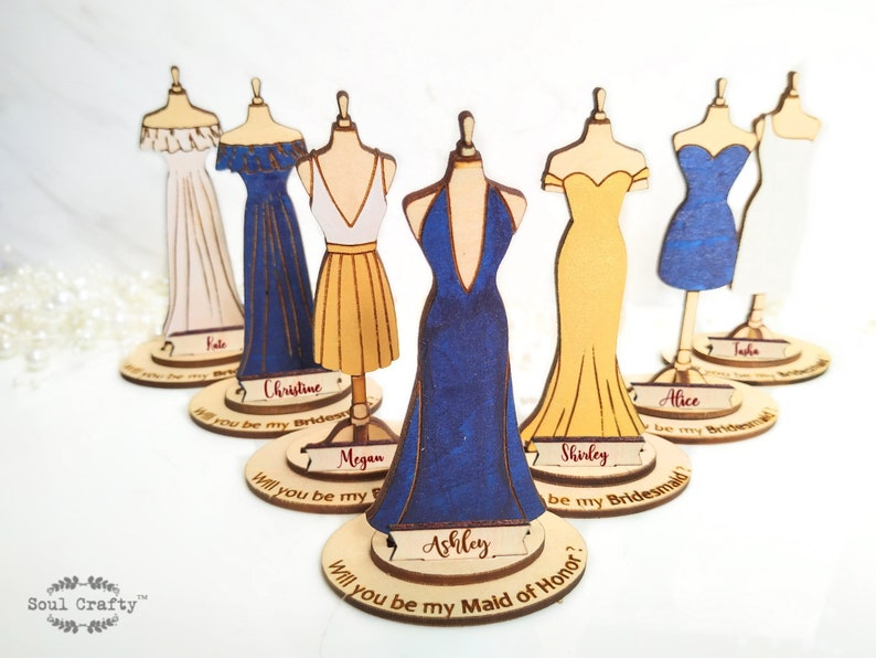 Personalized Will You Be My BridesmaidProposal gift idea with Existing design(A-Y)