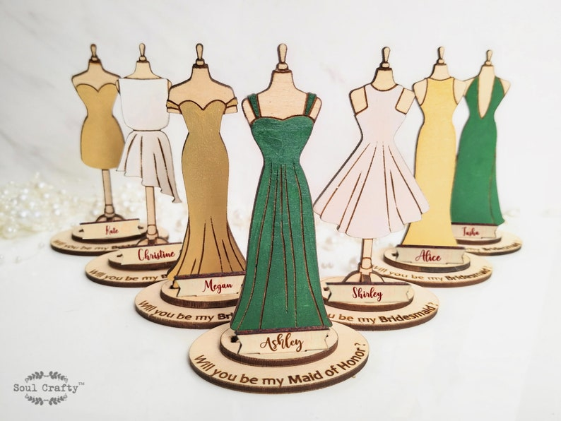 Personalized Will You Be My Bridesmaid Proposal gift idea Existing design(A-Y)