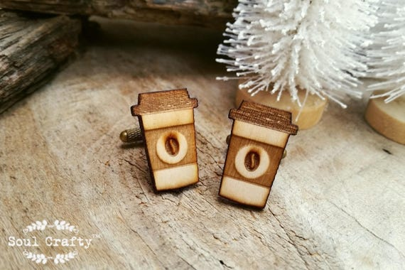 Cufflinks Wood Coffee