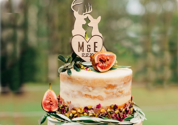 wooden cake topper Cake topper wedding rustic cake topper cake topper for wedding letters cake topper