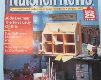 Überblick News Magazin. Überblick News August 1995 verwendet.  Puppenhaus Miniatur Projekte gut