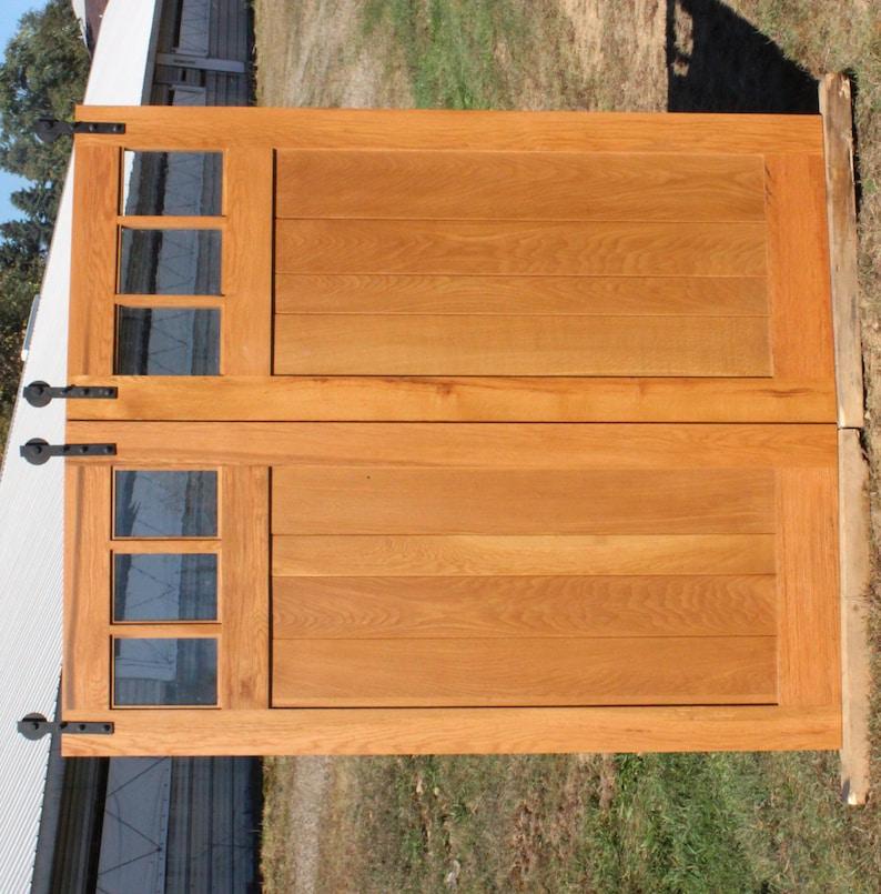 Reclaimed Oak Mission Style Barn Door Room Dividers Reclaimed Etsy