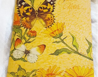 Vintage Current Butterfly Just-A-Note Stationery - 9 Fold-over Sheets w 3 different designs