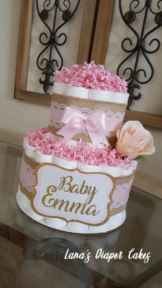 Mini 2 Tier Diaper Cakes
