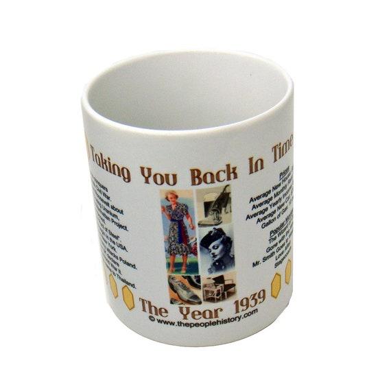 80th Birthday 1939 Personalised Celebration Mug MADE IN 1939 Blue Gift