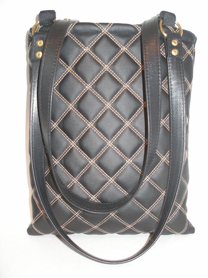 Medium sized Black Leather Handbag image 0