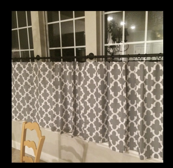Cafe Curtain Moroccan Fabric Curtains Trellis Kitchen
