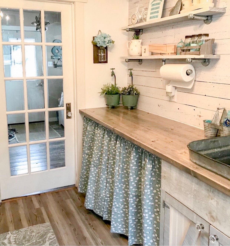 21 Pair of Cotton Stem Curtains, Kitchen Decor, Bedroom Decor, Vintage,  Window Treatments, Bohemian Decor, Farmhouse Style