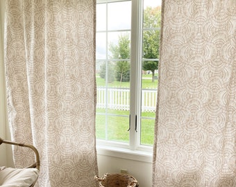 New Vision COLLECTION  Curtains, Drapes, Modern Print Curtains, Window Treatments, linen Cotton Drapes