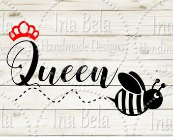 Birthday SVG Girls,Birthday SVG,Birthday Queen B,Queen svg,Crown svg,Svg Files for Cricut,Svg Files for Silhouette,Laser Cut File,Vinyl,Bee