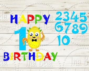Birthday Bundle SVG,Happy Birthday SVG,First Birthday svg,1st Birthday SVG,svg Files for Cricut,svg Cut Files,Silhouette Cut File,Vinyl,Boy