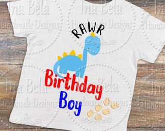 Dinosaur SVG,Rawr Birthday Boy,Birthday Boy,SVG Files for Cricut,Cut Vector File,Silhouette Cut File,Silhouette SVG Files,Silhouette Cameo