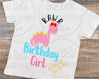 Birthday SVG,Dinosaur SVG,Birthday Girl,SVG Files for Cricut,svg Sayings,Silhouette Cut File,svg Files for Cameo,Laser Cut Vinyl,Girl