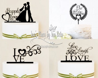 Cake Toppers,Party Decor,Wedding Cake Topper,Silhouette Cameo Files,SVG Cut File,Silhouette Cameo File,Handmade Wedding Decor,Party Supply