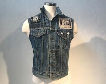 Sturgis brand vintage 1999 denim vest