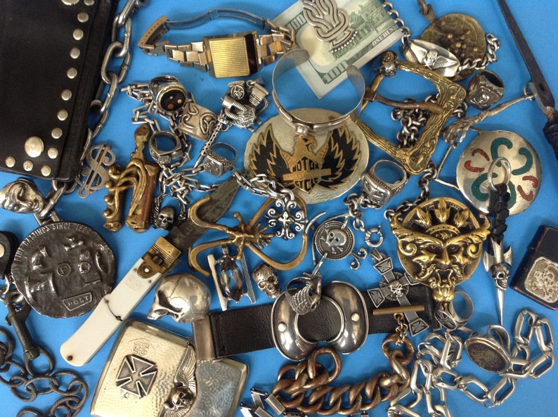 Intense Hammered Sterling Ring Garnet Stone Handmade Vintage