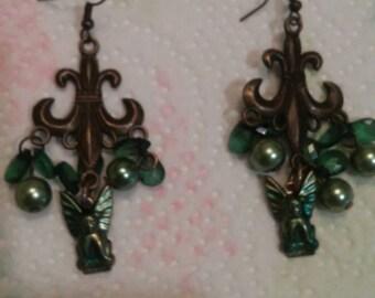 Gothic Gargoyle Chandelier Earrings