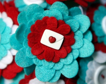Custom felt bridal bouquet