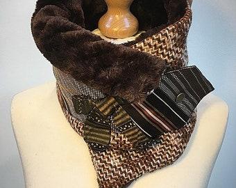 4269cd125520 Ultime tour de cou plus chaud, en fausse fourrure col snood, Amanda  Sutherland, cravates vintage, cadeau pour elle.