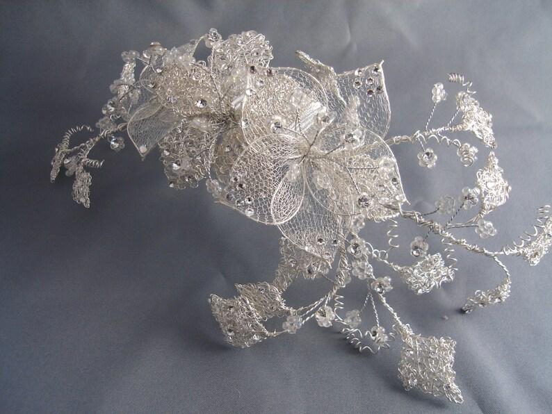 Silver hair vine Ivy tiara Hair wreath hair vine Silver wedding tiara