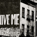 "Black and White Graffiti Art - ""Love Me"" - New York City Street Art - Love Me Tender Love Me True - NYC  Graffiti - New York Photograph"
