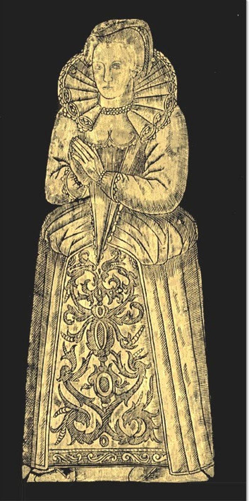 Dame Radcliff Wingfeld Medieval Art Renaissance Art Grave Rubbing Handmade Brass Rubbing