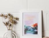 Mystic Mountains art  print A3/A4