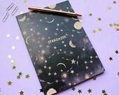 Metallic Stargazer constellations A5 notebook