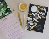 2019 A4 magical places Calendar with moon cycle overview