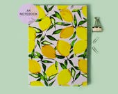 A4 yellow citrus lemons notebook with lined pages