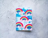 A6 'Rainbow Haze' Notebook with gold foiling