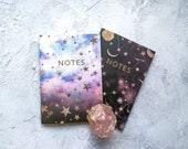 A6 'Constellations' Notebook Set with gold foiling