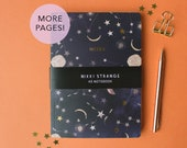 Thicker pages Constellations A5 notebook with gold foil stars