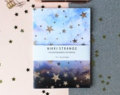 Cloudy Stars celestial A5 Notebook with lined pages