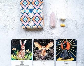 Animal Tarot Cards Etsy