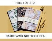 Three A5 Daydreamer notebook Deal