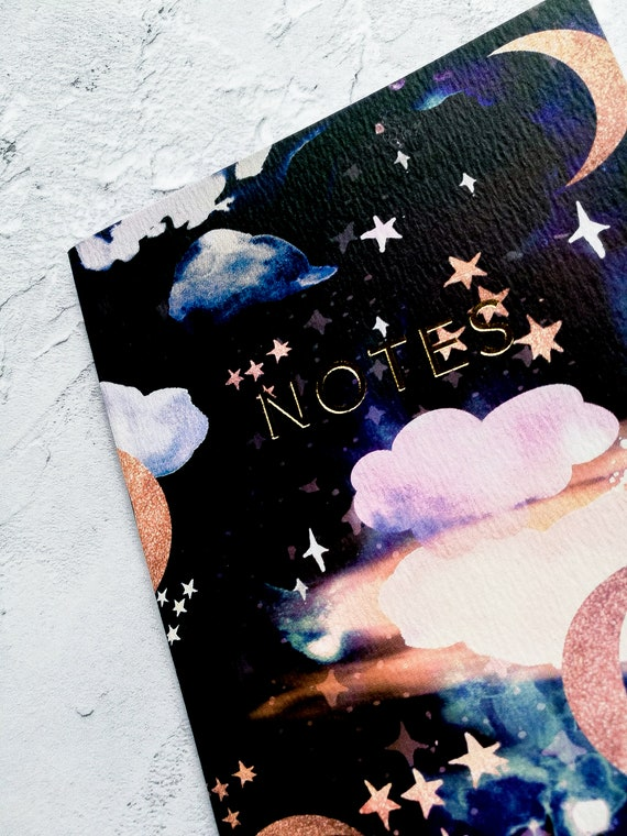 A6 /'Pastel Rabbits/' Notebook with gold foiling