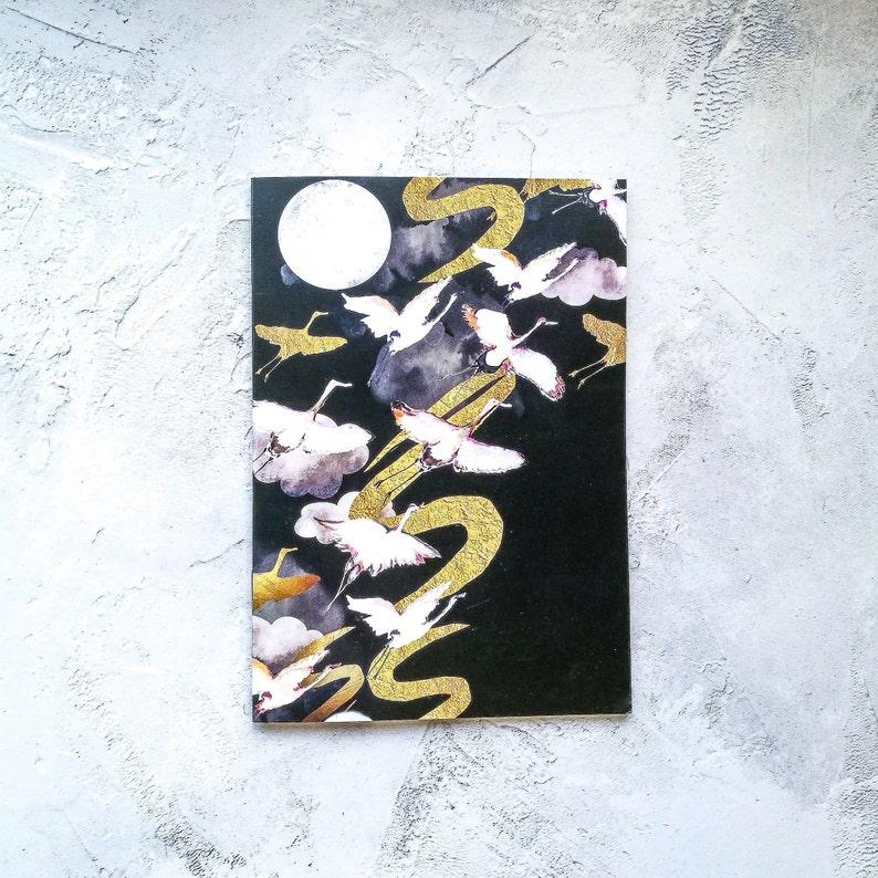 A5 Moonlight Cranes' Daydreamer Notebook image 0